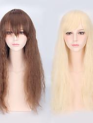 lâche perruque synthétique lolita belle natral cosplay couleur blond couleur brun onde avec Bang résistant à la chaleur