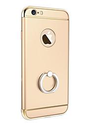 Для Кейс для iPhone 5 Покрытие / Кольца-держатели Кейс для Задняя крышка Кейс для Один цвет Твердый PC Apple iPhone SE/5s/5