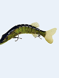 20cm 66g Lifelike Multijointed 8 Segement Pike Muskie soft tail Fishing Lure Swimbait Crankbait Hard Fishing Bait