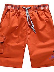 Men's Shorts,Casual / Sport Solid Cotton 916156