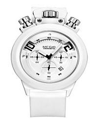 MEGIR® Men's Silicone Band 30M Water Resistant Dress Fashion Sports Watch Jewelry