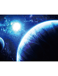 JAMMORY 3D Wallpaper Contemporary Wall Covering,Canvas Stereoscopic Large Mural  Space Galaxy Earth