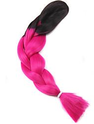 Afro мутил цвета плетение волос термостойкие волокна оплетки выдвижения волос 110g / шт синтетическое плетение волос