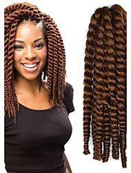 12-24 дюйма вязания крючком оплетка Havana Mambo Afro твист выдвижение волос 30 # с крючком