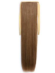 Brown Straight Blending Long Straight Hair Wig Ponytails 12/24