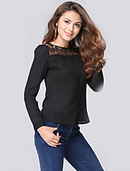 Women's Fashion Casual / Work / Beach Lace Chiffon Shirt
