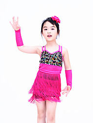 Dance Dancewear Children's Adults' Fringes Latin Dress Biketard Latin Dance outfits