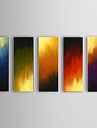 Hand-painted Abstract Flame Oil Painting Restaurant 5 Piece/Set Wall Art Decor with Stretched Frame