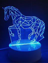 Colorful Lights Creative 3D Wedding Gift birthday Gift Children Nightlight Children Room Bedroom Lamp USB Stereo Plug