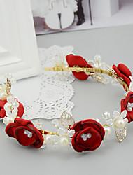 Women's / Flower Girl's Satin / Pearl / Alloy / Resin Headpiece-Wedding / Special Occasion Headbands 1 Piece