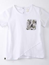 Girl's Print Tee,Cotton Summer White