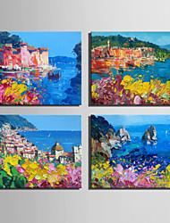 Pintados à mão Paisagem Modern / Estilo Europeu,1 Painel Hang-painted pintura a óleo