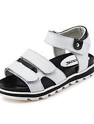 Girls' Shoes Wedding / Dress / Casual Peep Toe Leatherette Sandals Black / Pink / White