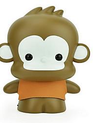 usb dos desenhos animados recarregável macaco olho-protectora noturna levou lâmpada de mesa