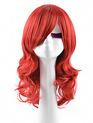 Capless Middle Red Color High Quality Synthetic Body Wave Synthetic Wigs