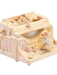 Pottery Yellow Creative Romantic Music Box for Gift
