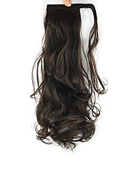 Length Dark Chocolate Wig Curls Ponytail 60CM Synthetic Body Wave High Temperature Wire Color 6