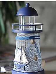 RGB Wrought Iron Lighthouse Candle Holder Mediterranean Style Romantic Home decoration Gifts Crafts