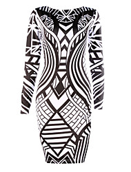 Women's Geometric Dress,Bodycon