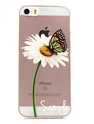 For iPhone 5 Case Transparent / Pattern Case Back Cover Case Butterfly Soft TPU iPhone SE/5s/5