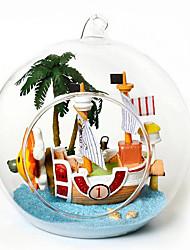 творческий поделки хижина б-012-б мини-парусные приключения творческие подарки ручной работы дома модель здания