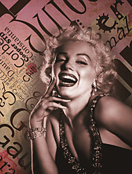 JAMMORY Art Deco Wallpaper Retro Wall Covering,Canvas Large Mural Monroe Posters