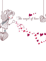Happy Home The Angel Of Love Heart Wall Stickers DIY Removable Romance Bedroom Wall Decals
