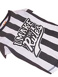 Собаки Футболка Черный Одежда для собак Лето Зебра
