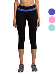 Vansydical® Women's Running Pants/Trousers/Overtrousers Bottoms Quick Dry Fall/Autumn Winter Yoga Chinlon Tight Performance PractisePink