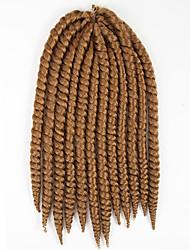 #27 / #30 / #33 Гавана / Вязаные Спиральные плетенки Наращивание волос 14 Inch Kanekalon 12 нитка 80g грамм косы волос