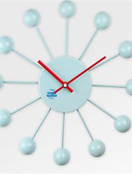 Круглый Модерн Настенные часы,Прочее Металл 35*35*2.5