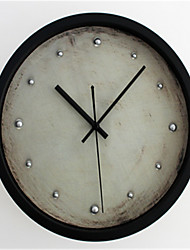 3D Stereo Metal Nail Wall Clock