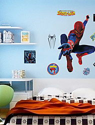Spider-Man Wall Stickers Environmental DIY Superhero Kids Bedroom Plane Wall Decals Wall Art