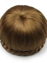 Kinky вьющиеся каштановые человеческие волосы парики шнурка шиньоны 2005