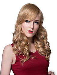 Woman's Pretty Wavy Human Virgin Remy Hand Tied-Top Capless Hair Wig