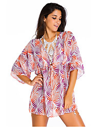 Women's  Palm Print Tunic Swim Cover Up
