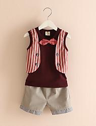 Wedding Baby Clothing Set Newborn Baby Clothes Sleeveless Shirt+Vest+Pant+Bow