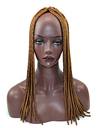 brown Crochet Dread Locks Hair Extensions 20inch Kanekalon 1 Strand gram Hair Braids
