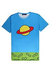 manches courtes t-shirt 3d costumes universel planète ufo impression cosplay t-shirt vêtements geek col rond pour homme / femme