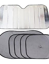 140 * 70 Aluminiumautoscheibentönung kitssun Schutz 6pcs