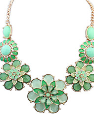 Necklace Pendant Necklaces Jewelry Party / Daily / Casual Alloy / Acrylic / Rhinestone Rose / Blue / Green 1pc Gift
