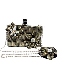 L.WEST Women's Handmade The Plaid Flower Evening Bag