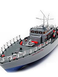Barco de Guerra HT HT-2877 1:115 Encouraçado RC Boat Electrico Não Escovado 2 2.4G Cinza