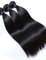 3pcs Lot 100% Malaysian Virgin Hair Straight Human Hair Extensions Natural Black Hair Weaves