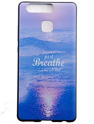 Pour Coque Huawei P9 P9 Lite Motif Coque Coque Arrière Coque Paysage Flexible PUT pour Huawei Huawei P9 Huawei P9 Lite