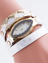 Ladies' Casual Watch Table Oval Diamond Bracelet Watch Quartz Watch Disk