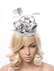 Women's Feather / Fabric Headpiece-Special Occasion Fascinators 1 Piece