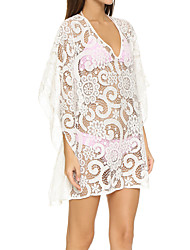 Women's Halter One-piece / Cover-Up,Solid Lace White / Multi-color