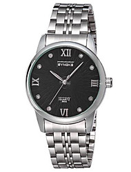 SYNOKE Men's Wrist watch Quartz Water Resistant / Water Proof Casual Watch Stainless Steel Band Silver
