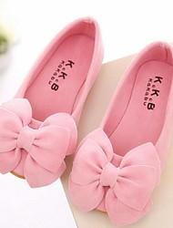 Girls' Shoes Dress Comfort Suede Flats Black / Yellow / Pink / Fuchsia